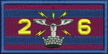26 AES Embroidered Flash